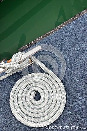 Rope of boat twist