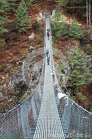 Free Rope Bridge In Himalaya, Nepal Stock Photography - 10492302