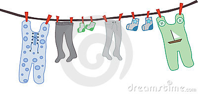Rope with clothes for a boy