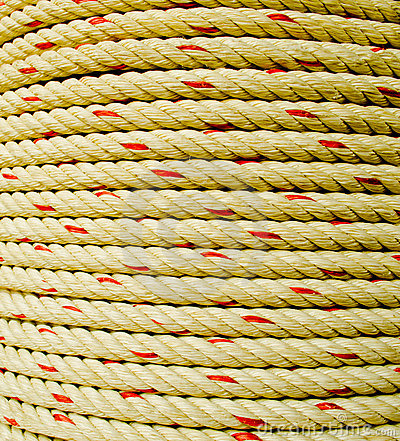 Rope coil makes of the fiber plants  or Jute.