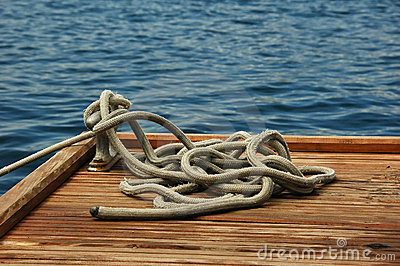 Rope on a dock