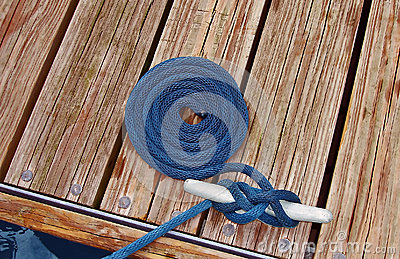 A rope on a dock
