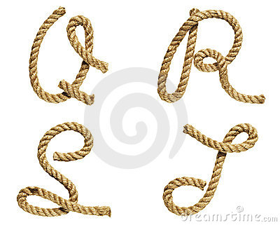Rope forming letter A, B, C, D