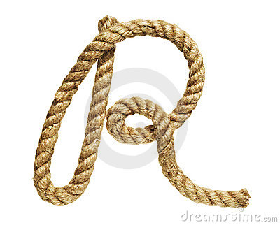 Rope forming letter C