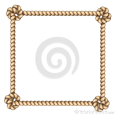 Free Rope Frame Royalty Free Stock Photography - 36109457