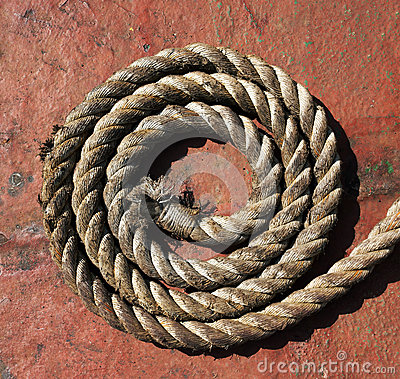 Rope on grunge metal