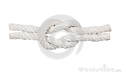 Rope with knot,