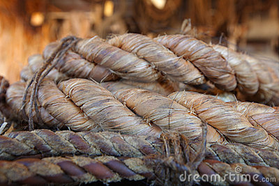 Rope made from natural fibre