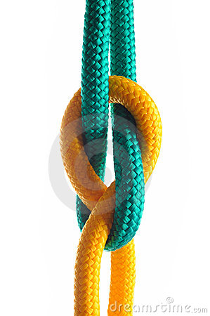 Rope with marine knot