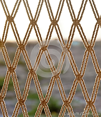 Rope net horizon line texture