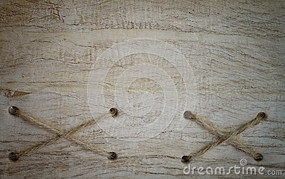 Rope and old wood texture background