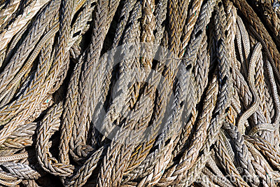Rope on a pile