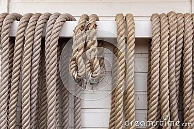Rope on railing