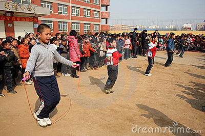 Rope Skipping Competition Editorial Stock Photo