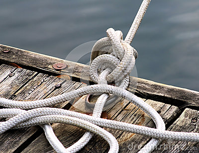 Rope Tied Up At Dock