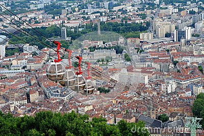Rope-way in Grenoble