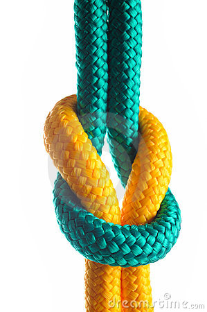 Free Rope With Marine Knot Stock Photo - 18561360