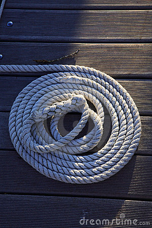 Rope on the wood