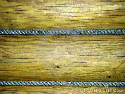 Rope and wood texture