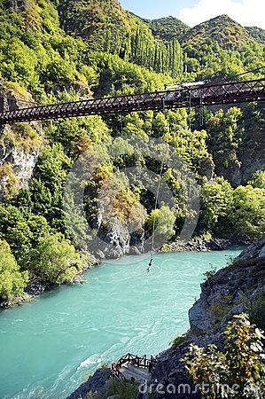 Free Ropejumping In The Mountains Of New Zealand Royalty Free Stock Photo - 41167795