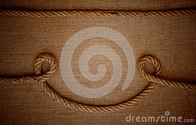 Ropes with a canvas of burlap