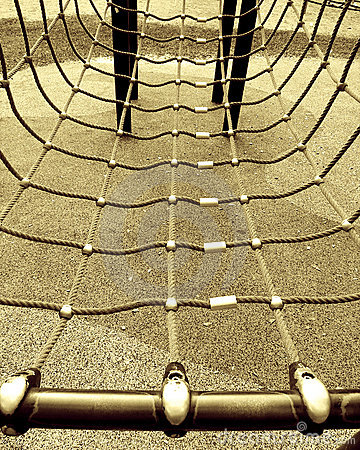 Free Ropes On Climbing Frame Stock Image - 5036891