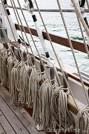 Ropes and Rigging on an old sail ship