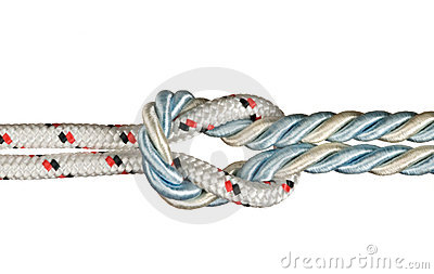 Ropes tied with knot