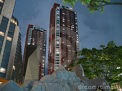 Roppongi Hügel-Wohnsitznachtszene (???????????)