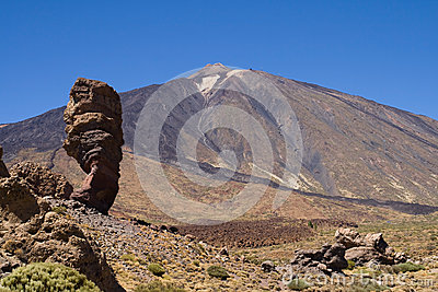 Roque Cinchado and Teide