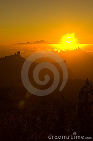 Free Roque Nublo At Sunset 2 Royalty Free Stock Photo - 937425