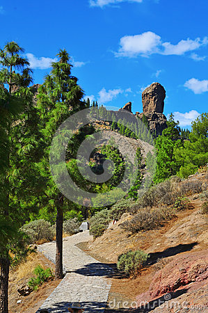 Free Roque Nublo Monolith In Gran Canaria, Spain Royalty Free Stock Photo - 39027885