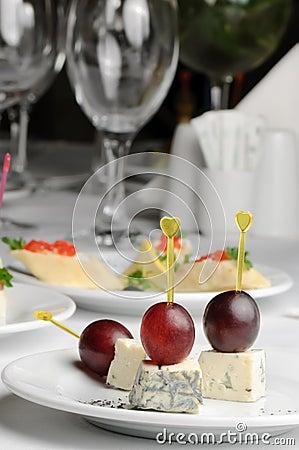 Roquefort τυριών καναπεδακιών