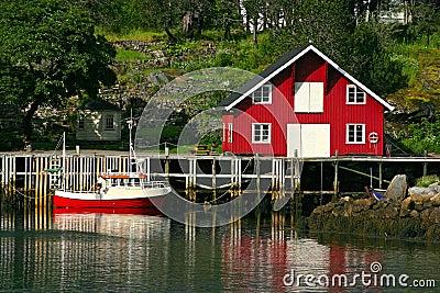 Rorbu and Boat at the Lofoten