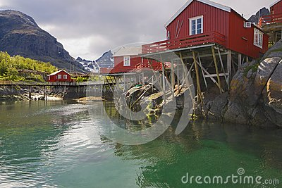 Rorbu huts on Lofoten