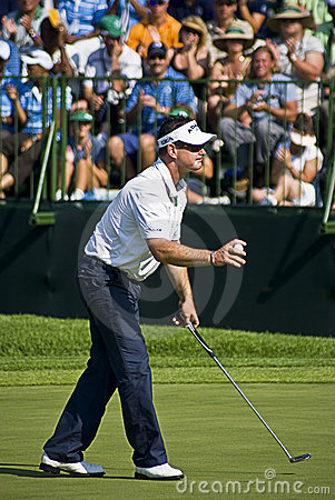 Rory Sabbatini Tossing Ball to Crowd - NGC2008 Editorial Photo