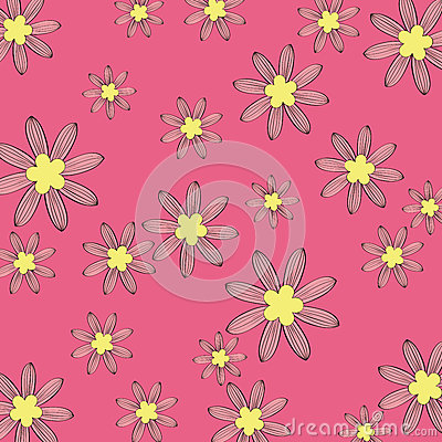 Rosa blommamodellbakgrund