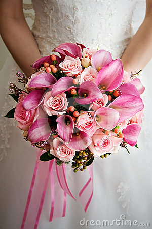 Rosa bröllop för bukett