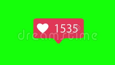 Rosa come l'icona sul fondo chiave di intensità verde Come il conteggio per i media sociali dei 1-5000 simili video 4K archivi video
