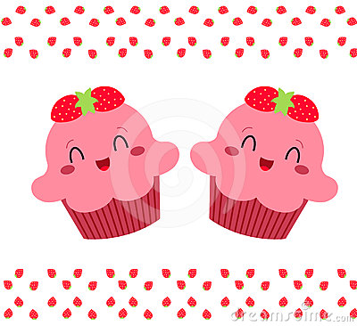 Rosa nätt för muffiner