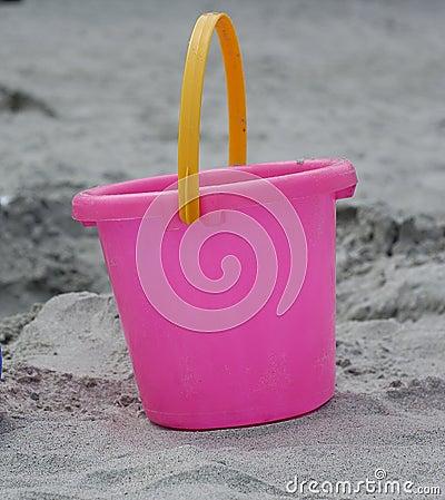 Rosa plastic sand för hink