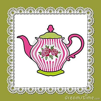 Rosafarbene Teekanne