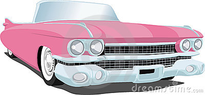 Rosafarbener Cadillac