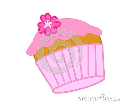 Rosafarbener kleiner Kuchen