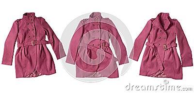 Rosafarbener Mantel