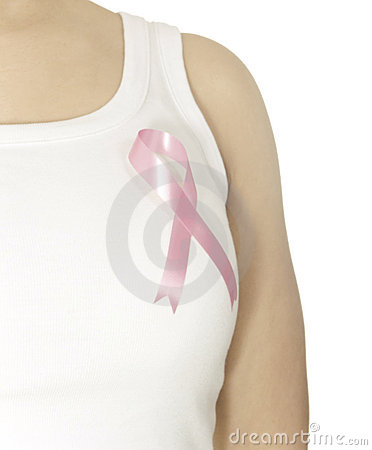 Rosafarbenes Brustkrebsfarbband