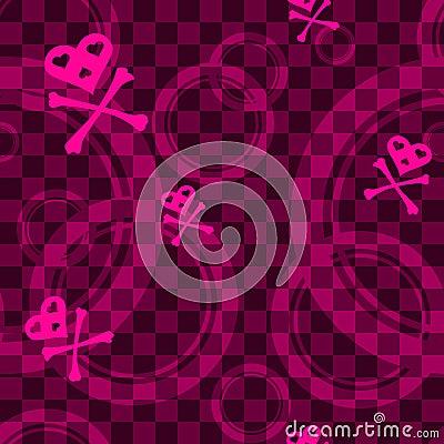 rosafarbenes emo nahtloses muster mit kreisen lizenzfreie. Black Bedroom Furniture Sets. Home Design Ideas