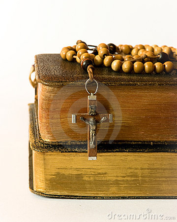 Free Rosary Beads And Breviary Stock Photography - 17910032