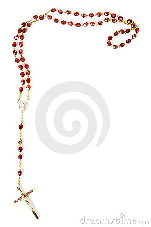 Free Rosary Beads Isolated On White Stock Image - 1901441