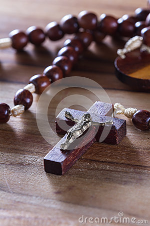 Free Rosary Beads On A Table Royalty Free Stock Photography - 67394657
